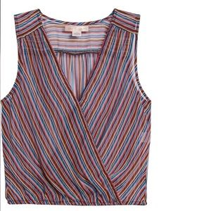 Band of Gypsies striped surplice top